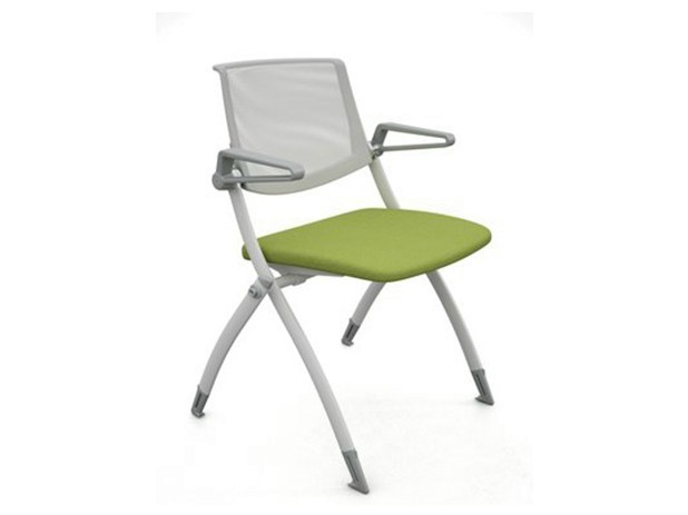 Stackable training chair with armrests ZERO9 | Training chair by Ares Line