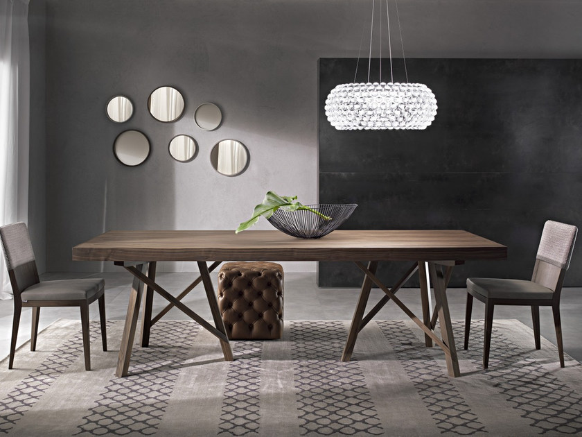 Extending rectangular table ZEUS | Solid wood table - Pacini & Cappellini