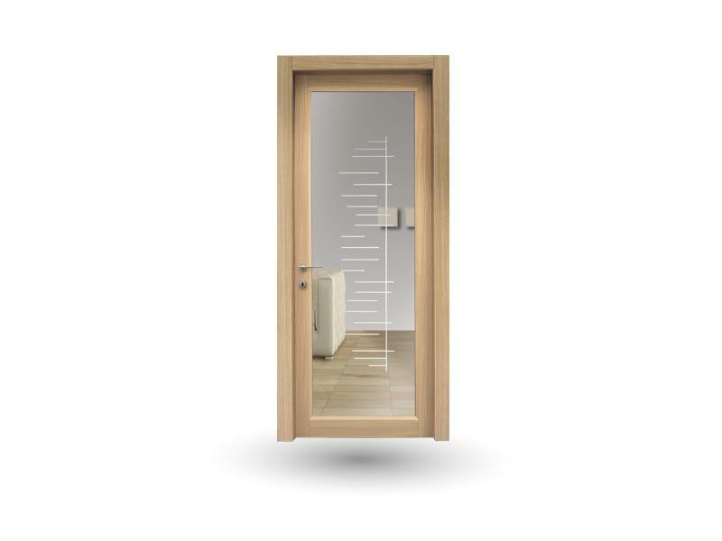 Hinged wood and glass door ZEUS Z209V1 GAMMA - GD DORIGO