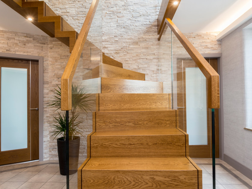 Wooden Open staircase ZIG-ZAG ROYAL by Siller Treppen