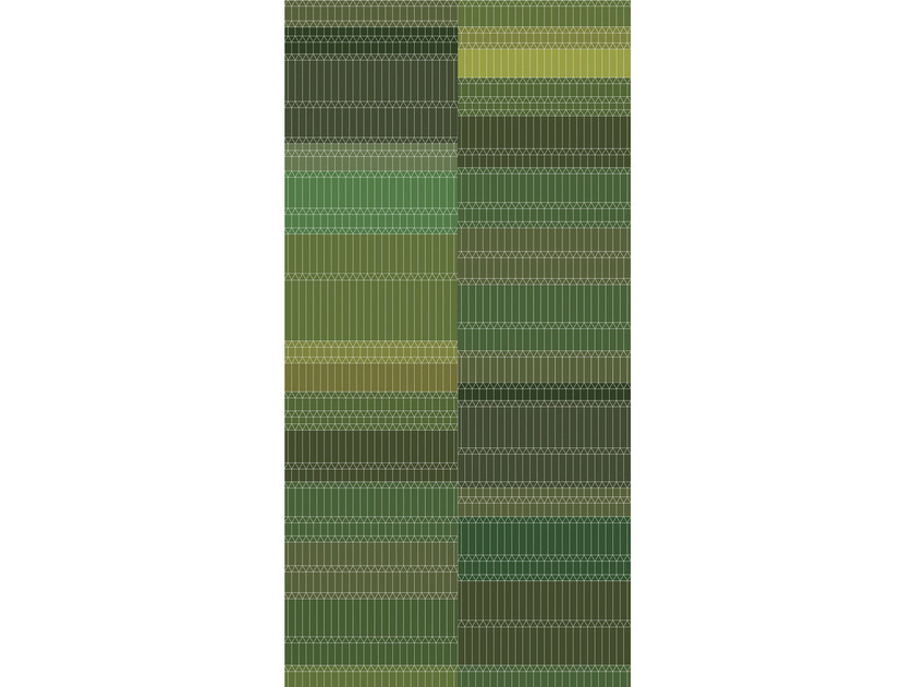 Rectangular striped fabric rug ZIGZAG - Moooi©