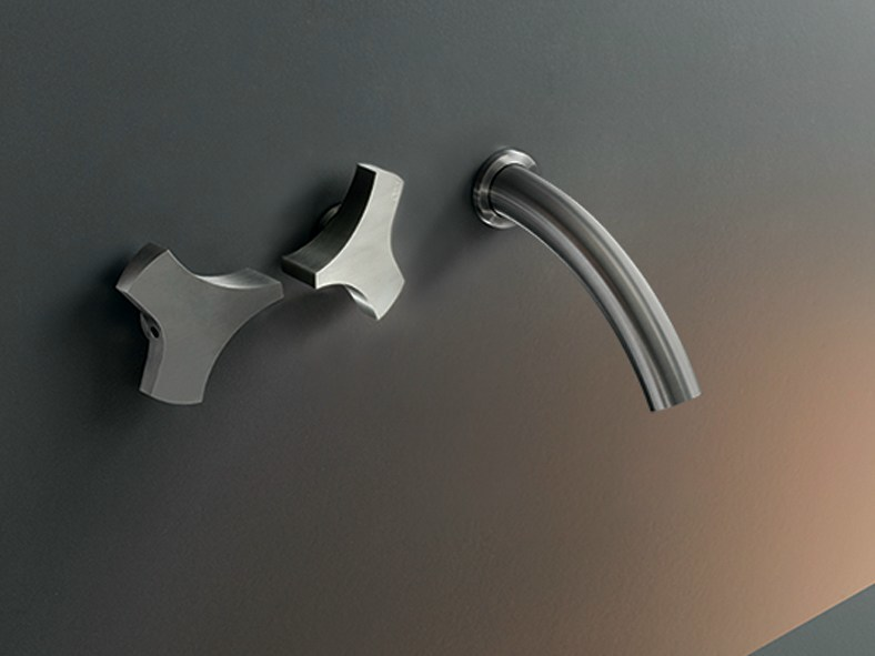 Wall mounted set of 2 individual taps ZIQ 04 - Ceadesign S.r.l. s.u.
