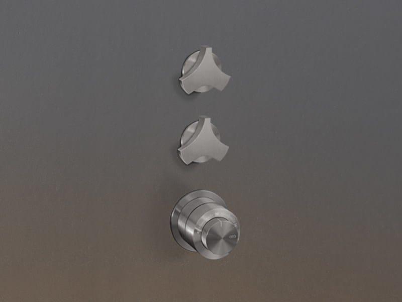 Thermostatic mixer set with 2 shut-off valves ZIQ 76 - Ceadesign S.r.l. s.u.