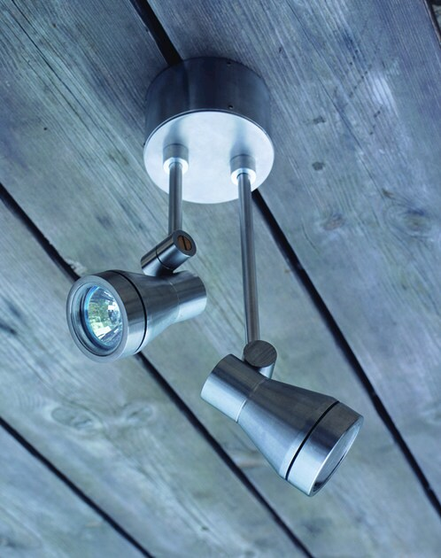 Adjustable stainless steel Outdoor floodlight ZONA BIS DL - BEL-LIGHTING
