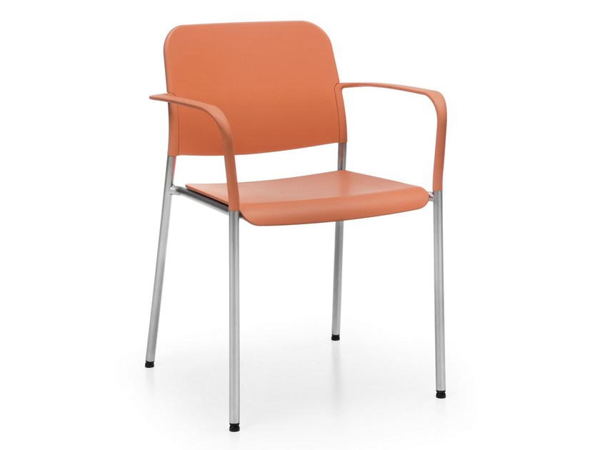 Plastic training chair with armrests ZOO 522H by profim