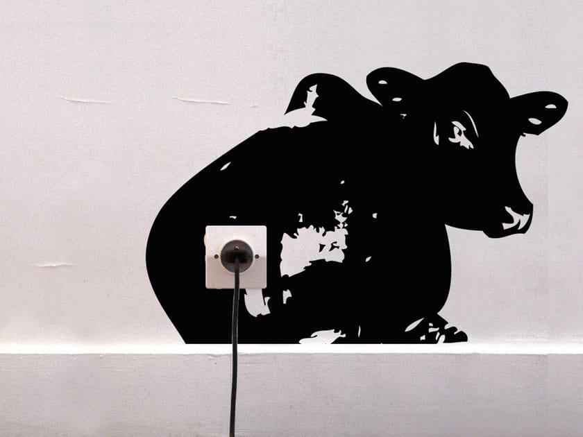 Vinyl wall sticker ZOO VACHE - Moustache