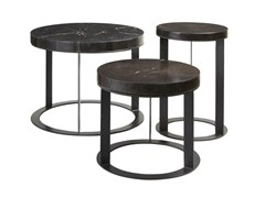 - Set low solid wood coffee tables MOBILIER D'INDONÉSIE   Wooden coffee table - Compagnie Française de l'Orient et de la Chine