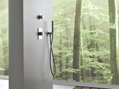 - Chrome-plated thermostatic shower mixer with hand shower 100 | Thermostatic shower mixer - ZAZZERI