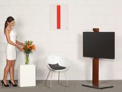 - Wooden TV cabinet with casters 118-H | TV cabinet - Wissmann raumobjekte
