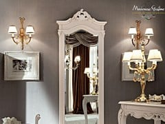 - Wall-mounted solid wood mirror 12215 | Mirror - Modenese Gastone group