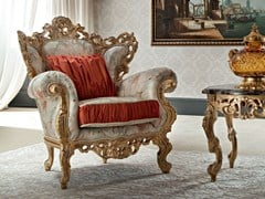 - Upholstered wooden armchair with armrests 12410 | Armchair - Modenese Gastone group