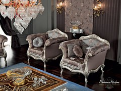 - Upholstered fabric armchair with armrests 12413 | Armchair - Modenese Gastone group