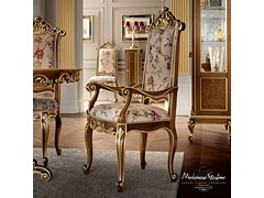 - Upholstered solid wood chair with armrests 12502 | Chair with armrests - Modenese Gastone group