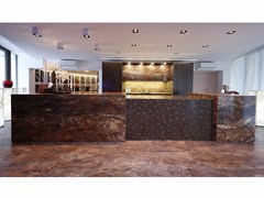 - Hideaway quartzite kitchen with island #13_D90 - TM Italia Cucine