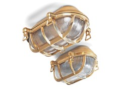 - Brass wall lamp 130749 | Cellar light large brass - THPG
