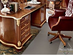 - Rectangular wooden writing desk with drawers 13302 | Writing desk - Modenese Gastone group