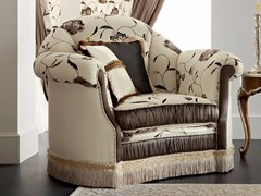 - Baroque upholstered fabric armchair with armrests 13404 | Armchair - Modenese Gastone group