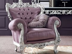 - Tufted fabric armchair with armrests 13411 | Armchair - Modenese Gastone group