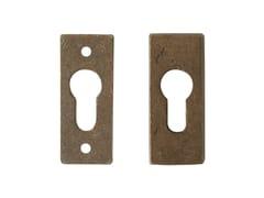 - Rectangular bronze keyhole escutcheon 13627 | Bronze keyhole escutcheon - Dauby