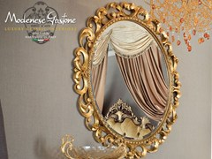 - Oval wall-mounted framed mirror 13672 | Mirror - Modenese Gastone group