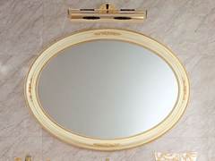 - Oval wall-mounted framed mirror 13679 | Mirror - Modenese Gastone group