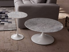 - Low round Carrara marble coffee table 1769/4 - 3 | Carrara marble coffee table - Domingo Salotti