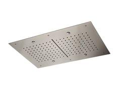 Soffione doccia a soffitto in acciaioSOFFIONI MULTIGETTO | Soffione doccia a soffitto - NEWFORM
