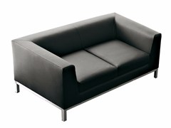 - Upholstered 2 seater sofa CUBE | 2 seater sofa - Luxy