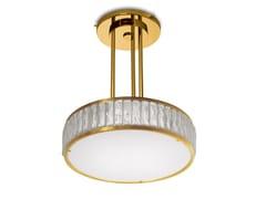 - Lampada a sospensione a luce diretta in vetro 2058 A S | Lampada a sospensione - Jean Perzel