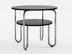 Tavolino in acciaio inox e legno con portariviste per contract261 - E | Tavolino - ADICO