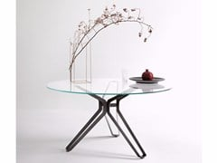 - Round glass table 3-POD | Round table - Lema