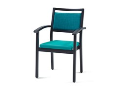 - Upholstered stackable fabric chair 3560 + A ST | Stackable chair - Z-Editions