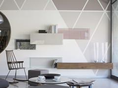 Parete attrezzata modulare in legno e vetro36E8 GLASS   Parete attrezzata - LAGO