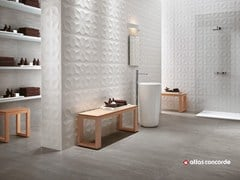 - Rivestimento tridimensionale in ceramica a pasta bianca 3D WALL DESIGN DIAMOND - Atlas Concorde