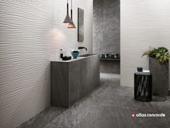 - White-paste 3D Wall Cladding 3D WALL DESIGN FLOWS - Atlas Concorde