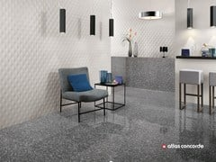 - White-paste 3D Wall Cladding 3D WALL DESIGN MESH - Atlas Concorde