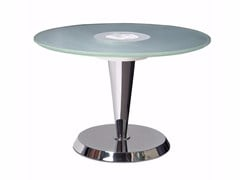 - Metal coffee table with light for living room GUÉRIDON 4 - Jean Perzel