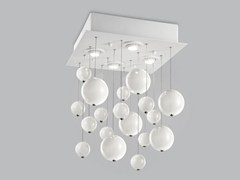 - Blown glass ceiling lamp BOLERO 40x40 - Metal Lux di Baccega R. & C.