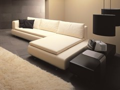 - Leather sofa with chaise longue 485 FORUM | Sofa with chaise longue - Vibieffe
