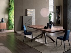 - Rectangular wooden dining table 4X4 FISSO - Ozzio Italia