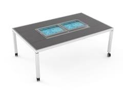 Tavolo da pranzo con portaghiaccioDining table with double ice well - LA TAVOLA
