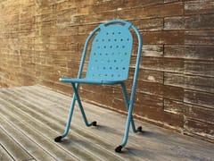 Sedia da giardino impilabile in metallo5005 | Sedia - ADICO