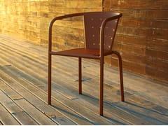 Sedia da ristorante in metallo con braccioli508 | Sedia con braccioli - ADICO