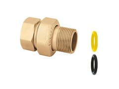 - Pipe for domestic gas network 588 Three-piece straight union fitting - CALEFFI