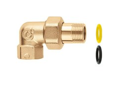 - Pipe for domestic gas network 5881 Three-piece elbow union fitting - CALEFFI