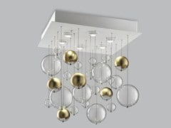- Blown glass ceiling lamp BOLERO 60x60 - Metal Lux di Baccega R. & C.