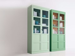 - Lacquered wood and glass display cabinet 6338/1-19 - MARKTEX