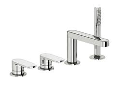 - 4 hole bathtub set with hand shower SMILE 64 - 6431404 - Fir Italia
