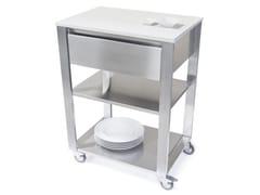 Modulo cucina freestanding in acciaio inox con cassetti660701 | Modulo cucina freestanding - JOKODOMUS