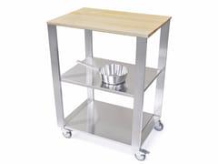 Modulo cucina freestanding in acciaio inox e legno662700 | Modulo cucina freestanding - JOKODOMUS